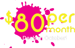 $80 per month Deals in Octorber!