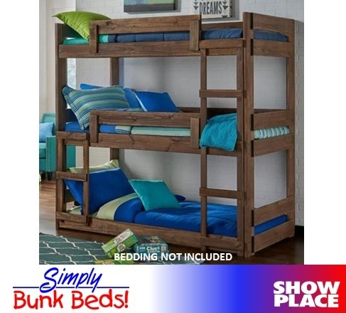 Twin Twin Twin Bunk Bed Showplace Rent To Own