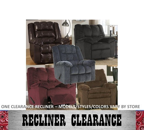 Showplace Rent To Own Clearance Recliner Model REC-CLEARANCE1